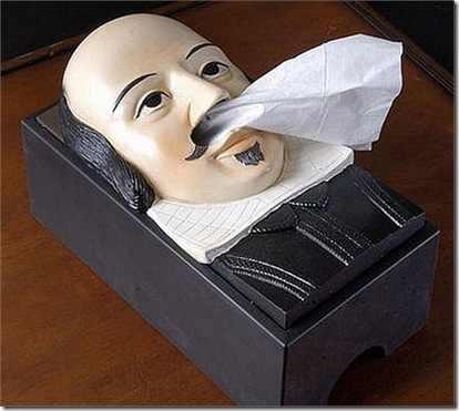A Shakespeare Kleenex box.