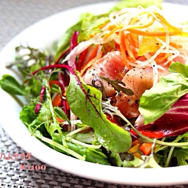 お店のメニューの人気サラダ 美味しそうに見える盛り付け方を レシピに載せてるので 是非とも参考にして下さい - 369件のもぐもぐ - イタリア産生ハムサラダ by 野菜ソムリエシェフ
