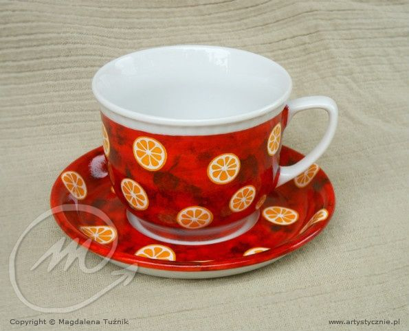 Filiżanka w m andarynki - Cup in Tangerinas