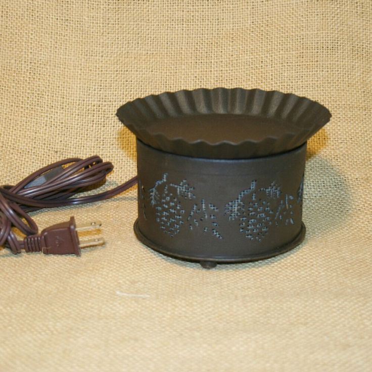 Electric Tart Warmer Brown Pine Cones Country Decor #Unbranded