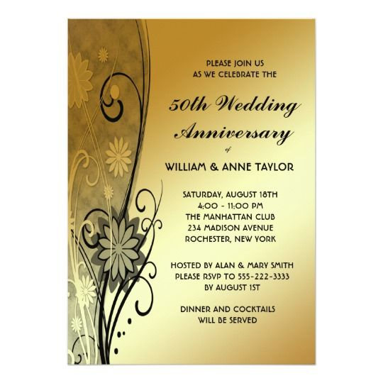 The 25+ best 50th anniversary invitations ideas on Pinterest - anniversary invitation