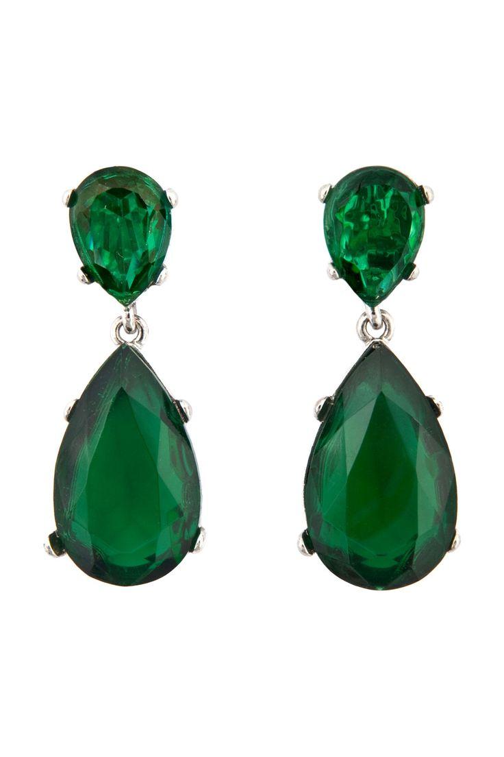 Pin De Melissa Flora Em Earrings Emerald Jewelry Green