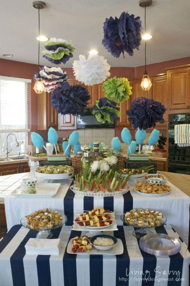 Ideas for food presentation...Living Savvy: Savvy Parties... Baby Shower