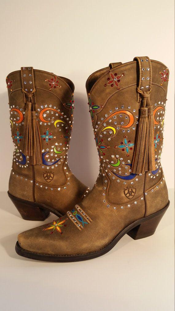 e2435c0b4b1 Size 8 B Women's Cowboy Boots New Ariat Women's Tan Desert Star ...
