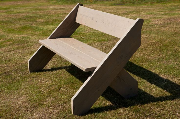 Amsterdam bench - recycled scaffold planks