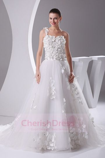 Flowers Bride Wedding Dress