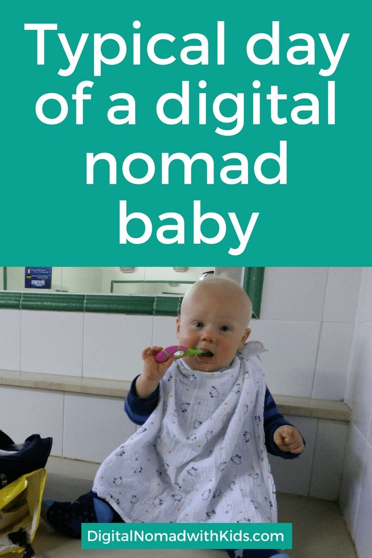Traveling full time with your children chaotic and unstable? Read about our typical day of a digital nomad family with baby while traveling in an RV.