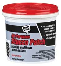 DAP® All-Purpose Stucco Patch (RTU) - repair stucco cracked and loose pieces on mantle.
