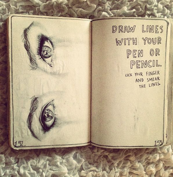 Drawing Lines On Your Skin With My Fingertips : Best images about art journal ideas on pinterest