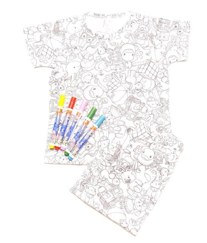 Pijama de colorir - Baby Fashion & Fun