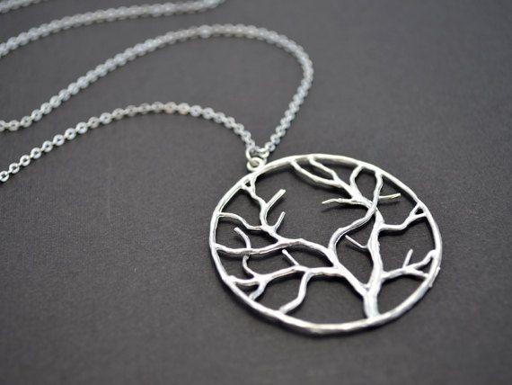 Collier pendentif arbre