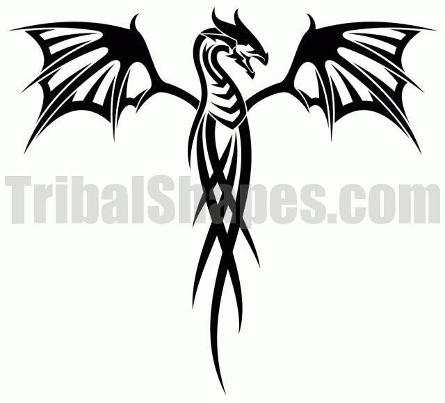 dragon tattoo | Tribal designs face paint | Pinterest