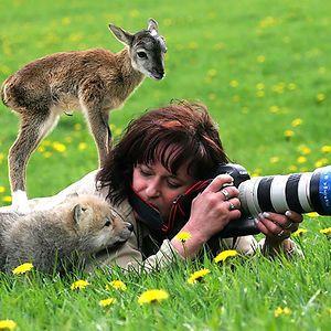 Nature Photographer. Photographer & his subject