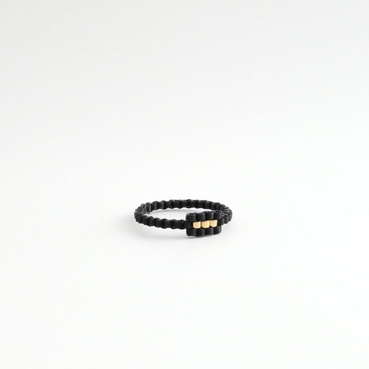 Anillo negro aro de asiento anillo moldeado por JeannieRichard