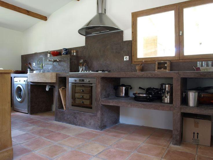 am nagement de cuisine en tadelakt mais aussi b ton coin vier cuisine pinterest. Black Bedroom Furniture Sets. Home Design Ideas