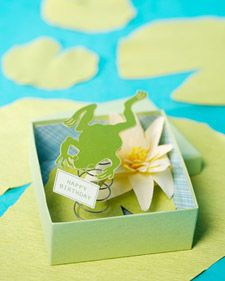Frog-in-a-Box Card How-To  This birthday Good Thing will make the recipient jump for joy.