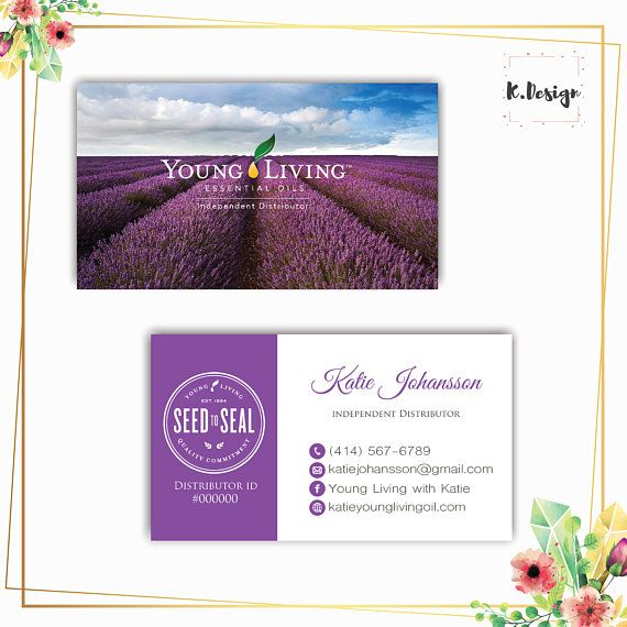 The 477 best young living images on pinterest personalized yl business card printable essential oils business cards lavender business cards yl12 colourmoves