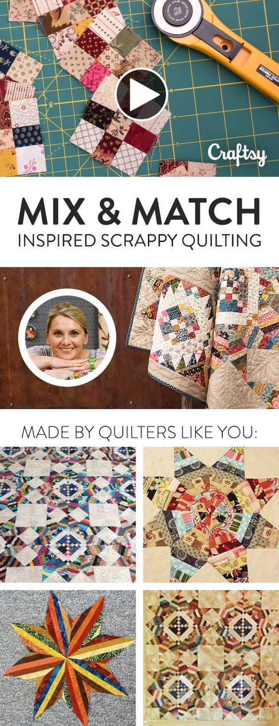 Don't give up on your mismatched scraps — transform them into a stunning scrappy quilt! Learn how to sew Edyta Sittar's scrappy quilt style and make the most of your stash.