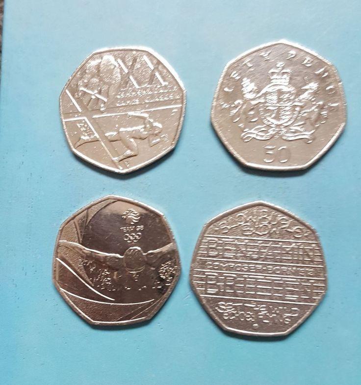 50p coins Glasgow Olympics Christopher Ironside Benjamin Britten  £5.50 or Best Offer Ebay Uk item Number 263528194455