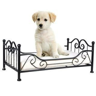 50cm Iron Frame Animal Pet Dog Bed & Cushion