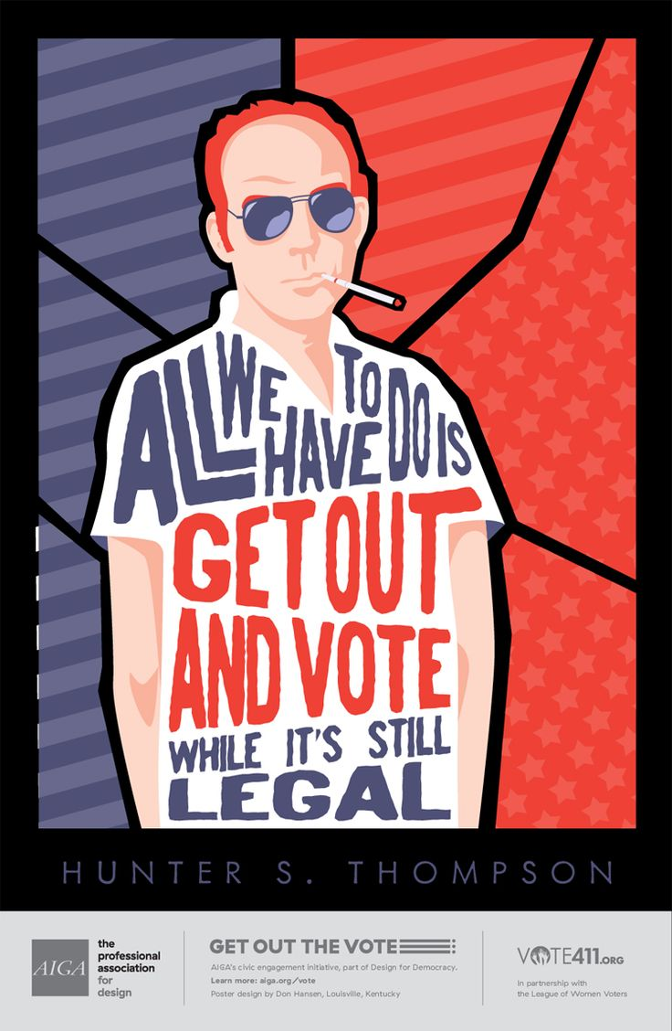 Dan Hanson for AIGA series to get out the vote