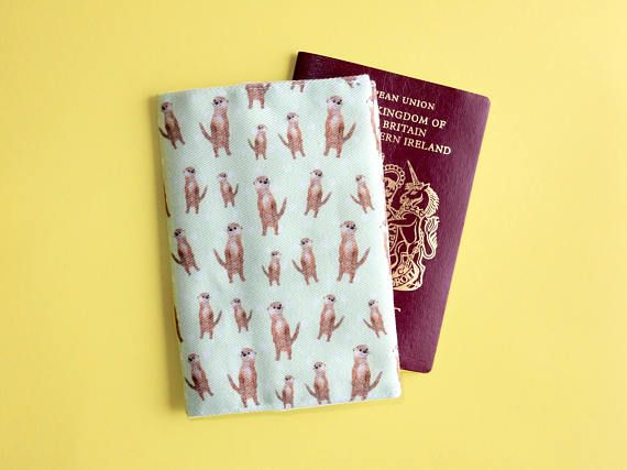 Otter passport wallet  travel gift  cute travel wallet