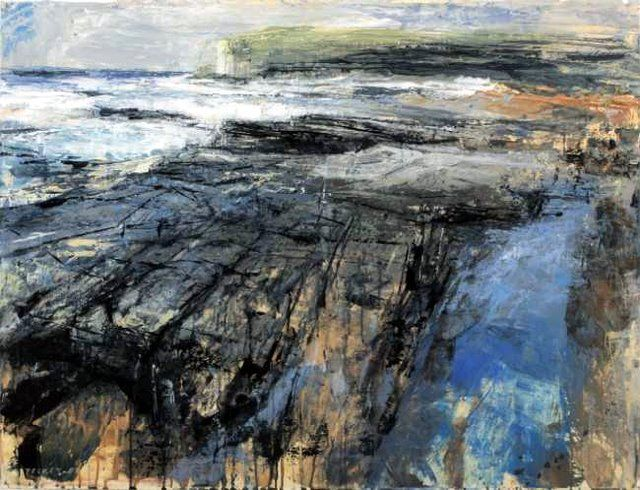 fractured headland by Donald Teskey