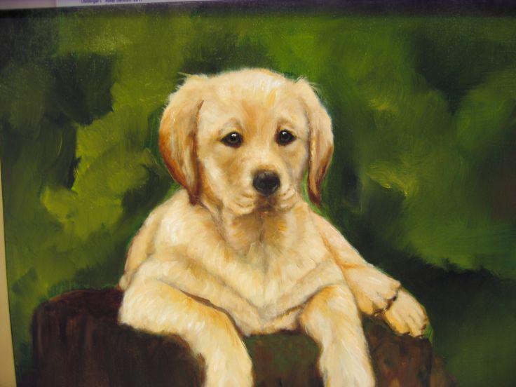 """ Golden "" Oil painting by Nansy N. Pedersen"