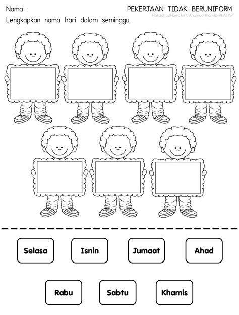 Latihan Kvkv 1 Pendidikan Anak Usia Dini Lembar Kerja Pendidikan
