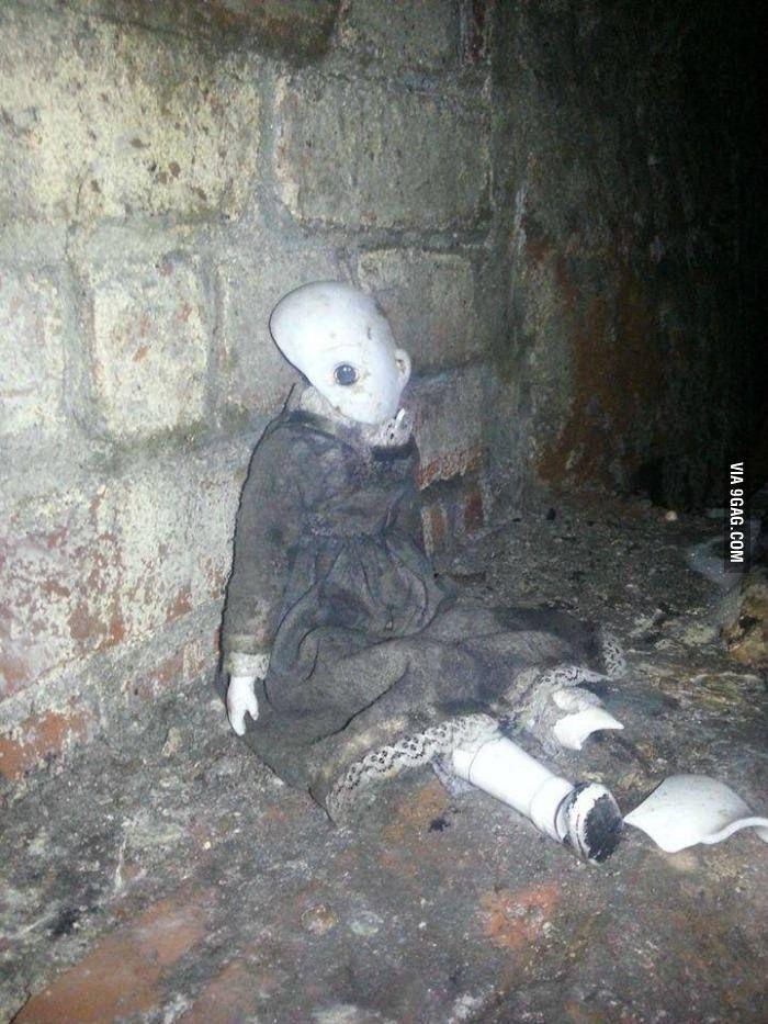 Doll found in Manchester underground tunnels. Creepy