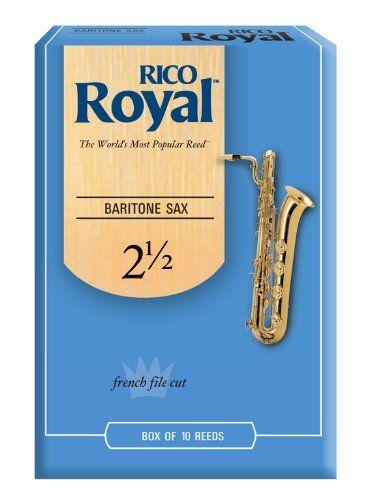 Rico Royal Baritone Sax Reeds, Strength 2.5, 10-pack - http://www.rekomande.com/rico-royal-baritone-sax-reeds-strength-2-5-10-pack/