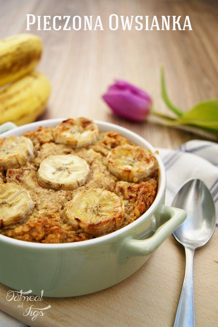 Pieczona owsianka bananowa
