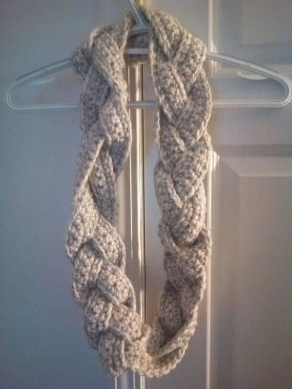 Free Knitting Pattern For Braided Cowl : 17 Best images about Crochet braided on Pinterest Cowl patterns, Cowl scarf...