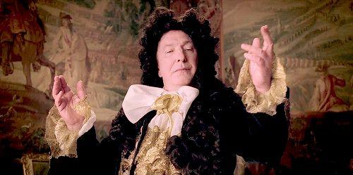 "2014 - Alan Rickman as King Louie XIV in ""A Little Chaos."""