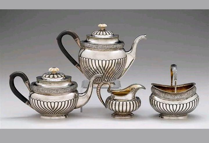 Lot 412 S105 - 19C Russian Coffee/Tea Service 1832 - Est. $4000-5000 - Antique Reader