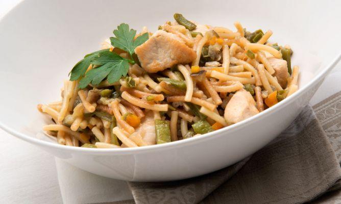 Fideuá de verduras y pavo. #receta #karlosarguiñano