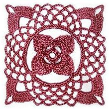 Flower Lace Crochet Square free pattern. More Patterns Like This!