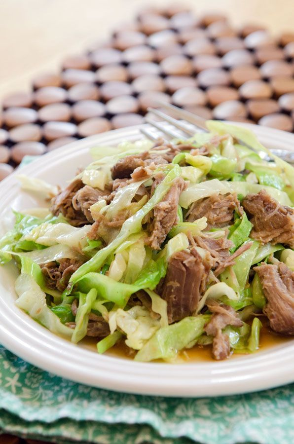 This recipe for Totally Easy Slow-Cooker Kalua Pork only uses THREE INGREDIENTS!