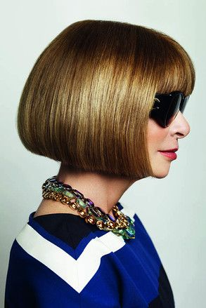 Anna Wintour - must be tiring to maintain perfection -all-the-time. But then, that is why she is who she is. RESPECT, m'lady