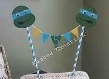 LEONARDO Teenage Mutant Ninja Turtle Inspired Birthday Cake Topper/Bunting