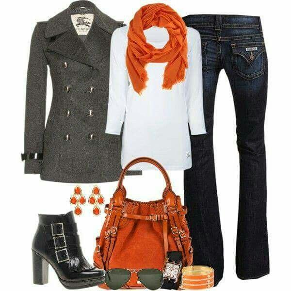 Blanco, gris, naranja