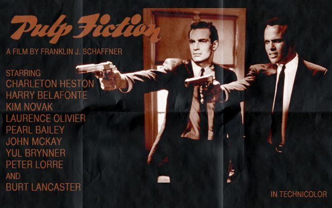 Te imaginas Pulp Fiction protagonizada por Charlton Heston y Harry Belafonte?