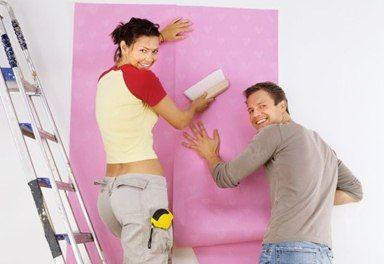 Переделка - Отделка стен обоями под покраску