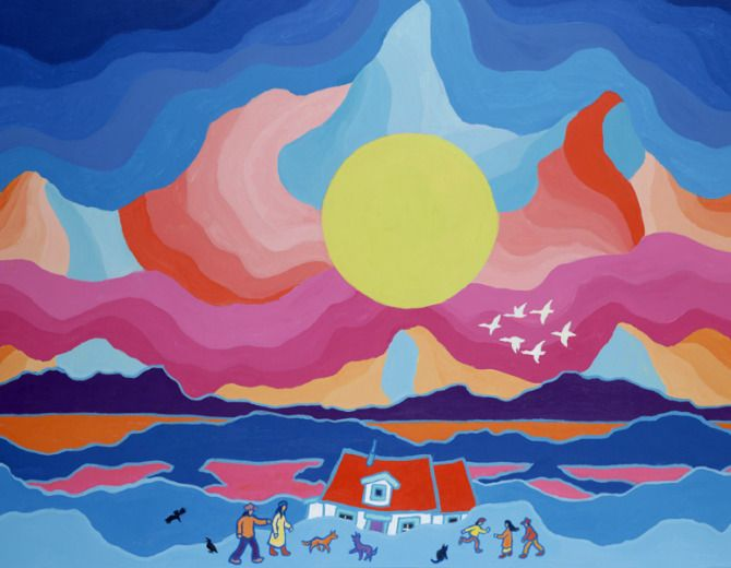 Canadian painter, Ted Harrison, dies at 88