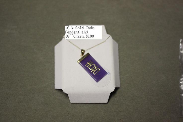 10 K Gold Jade Necklace | eBay