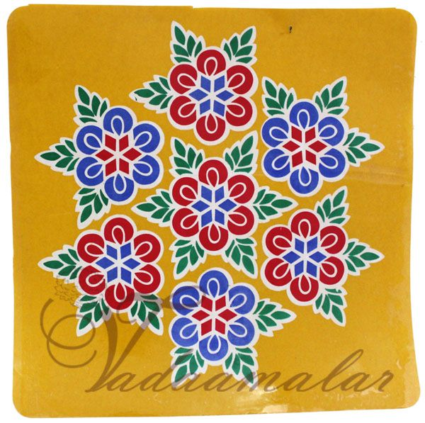Kolam stickers for home and pooja room decorations ... - photo#34