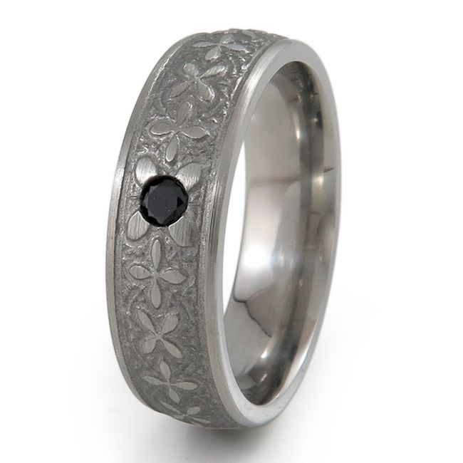 We were happy to craft this unique custom titanium ring inset with a 3mm black onyx, designed and now enjoyed by Corwin !