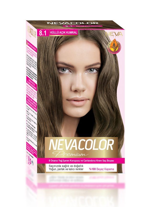 Nevacolor Premium Sac Boyasi 8 1 Kullu Acik Kumral Kizil Sac