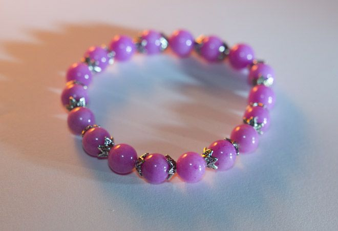 'Rose pink' - pink jade mineral bracelet 8mm pink jade mineral bracelet.   Available: http://www.meska.hu/ProductView/index/1112328