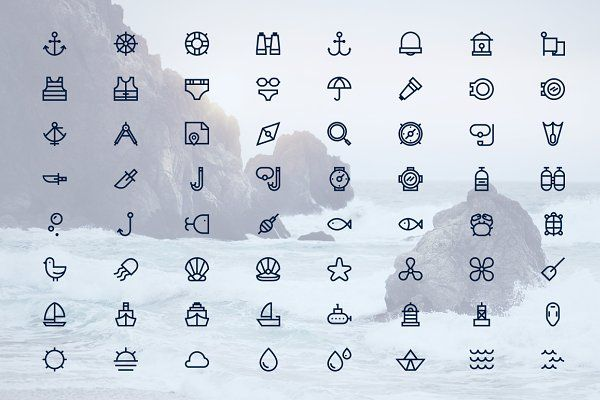 NAUTICAL ICONS by Limitless on @creativemarket